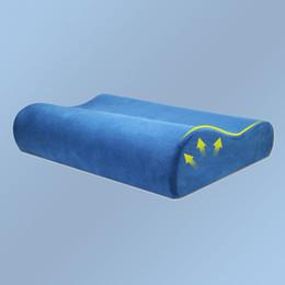 Almohadas cervicales de látex online-Slow Rebound Promotion Cuidado de la almohada de espuma de memoria Ortopédica Latex Neck Pillow Fiber Slow Rebound Cervical Health Care Nuevas llegadas