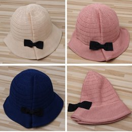 Wholesale Children Floppy Sun Hats - Outdoor Summer Beach Baby Kids Children Sun Protection Bowknot Fishman Floppy Hat Cap