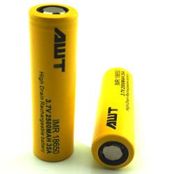 Wholesale Wholesale Electronic Cigarette Suppliers - Supplier AWT 18650 battery ego battery for Ecig Electronic cigarette box mod vapor 3.7V 2500mah 35A lithium battery VS Vtc4 vtc5