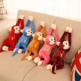 Wholesale Curtain Decoration Toy - 45cm Cute Long Arm Monkey Soft Plush Doll Toy Baby Sleeping Appease Animal Monkey Home Decoration Curtains Hanging Doll