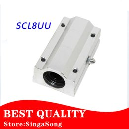Wholesale Linear Blocks - Wholesale- Free shipping 4pcs lot SC8LUU SCS8LUU 8mm Linear Ball Bearing Block CNC Router pillow for XYZ