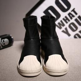 Wholesale Punk Boots Men - New Fashion Men Punk Street Style Skate Shoes Boots Botas Breathable Casual Shell Toe Shoes Men Footwear Chaussure Homme
