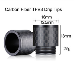 Wholesale Newest E Cigs - 2017 Newest wide bore 810 Carbon Fiber TFV8 Drip Tips for TFV8 BIG BABY TFV12 Atomizers Vape e cigs Drip Tip DHL