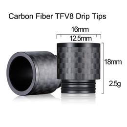 Più recenti e cigs online-2017 Newest bore 810 In Fibra di Carbonio TFV8 Drip Tips per TFV8 BIG BABY TFV12 Atomizzatori Vape e cigs Drip Tip DHL