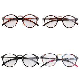 Wholesale Round Geek Glasses - Hot!Retro Geek Vintage Leopard Nerd Large Frame Fashion Round Clear Lens Glasses Multicolor