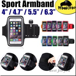 Wholesale Waterproof Key Pouch - Universal Waterproof sport Armband Case Running Pounch Phone Bag For Iphone 5S se 6s Plus S6 S7 edge LG key Holder Arm Band cell phone