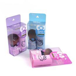pinceaux de maquillage Promotion 6 couleurs Hello Kitty Brush Face Foundation Poudre Pinceaux Cosmétique Mignon Dessin Animé Canard Jaune Brosse Maquillage Brosse Protable Maquillage Outils