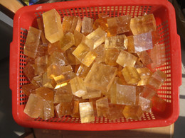 Wholesale Feng Shui Wealth - 100g Rare Optical yellow Calcite Crystal Iceland Spar transparent
