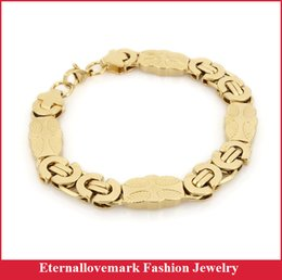 Wholesale Byzantine Style Jewelry - Latest design gold plated byzantine chain of Christian style stainless steel jewelry for men and biker