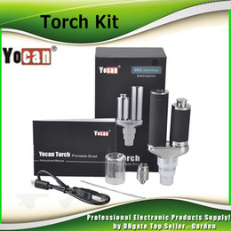 Wholesale Ecig Dry - Original Yocan Torch Vaporizer Kit Wax Pen With Quartz Dual Coil Portable Wax Pen and Dry Herb Ecig Kits 100% genuine DHL Free 2204027