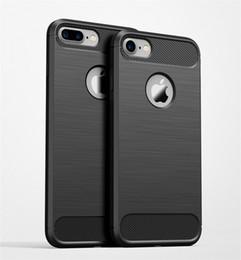 Wholesale iphone case draw - Carbon Fiber Case For iPhone 8 7 Plus 6 6s Plus Samsung Case New Carbon Fiber Soft TPU Drawing Phone Case Back Cover