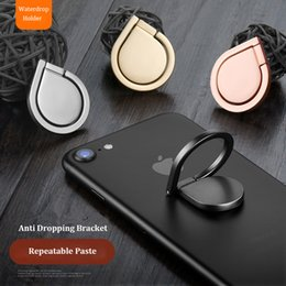 Wholesale Black Spinners - Metal Water Drop Ring Holder Mobile Phone Ring Stand 360° Spinner Smartphone Universal Metal Holder for I6 I7 Galaxy S8 S8edge S7edge Note8