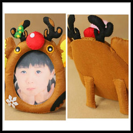 Wholesale Christmas Photo Picture Frame - Photo Frames Acrylic Photo Frame CHRISTMAS TREE ORNAMENT PHOTO FRAME REINDEER SANTA SNOWMAN PICTURE FRAME SO CUTE Christmas Photo Frame