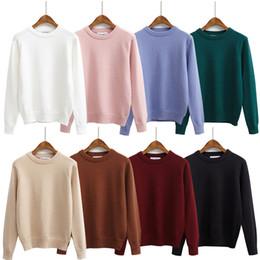 Casacos de mulheres bonitos casacos on-line-Atacado- outono 2017 mulheres blusas e pulôveres inverno novo estilo kawaii harajuku casacos coreano retro bonito pullover camisola de malha mulheres