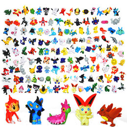 Wholesale e packet - 144 Style Poke E-PACKET FREE Figures Toys 2-3cm Pikachu Charizard Eevee Bulbasaur Suicune PVC Mini Model Toys For Game Fans