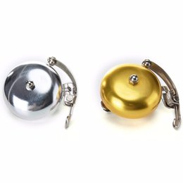 Wholesale Classic Bicycle Handlebars - Classic Handlebar Bicycle Bell Retro Cycle Push Bike Metal Bell Ring Loud Sound One Touch Cycling Bicycle Horn Alarm Accessory