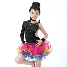 a4bde5f06 Trajes del funcionamiento latino vestido de la danza de las niñas de las  lentejuelas de baile de Tango Escenario vestidos de baile vestido de los  niños de ...