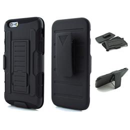 Wholesale M7 Hard - Black Impact Rugged Hybrid Case For Apple iPhone 7 6 6S Plus SE 5S Heavy Duty Kickstand Clip Armor Hard Back Capa For HTC M7 M8 M9 M10 626