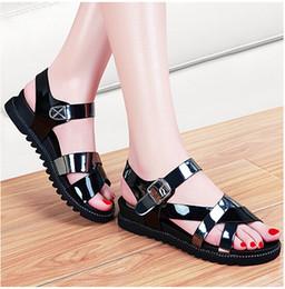 Wholesale Ladies Women Sandal Platform Slippers - Summer Women Fashion Slugged Bottom Sandals Ladies Sexy Hollow Out Platform Shoes Girls Lovely Flat Heel Sandals Female Slippers