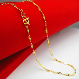 Wholesale Gold 18k 24k Chain - To send Valentine gold necklace woman 18K gold imitation 24K chains of pure gold wedding jewelry chain clover clavicle