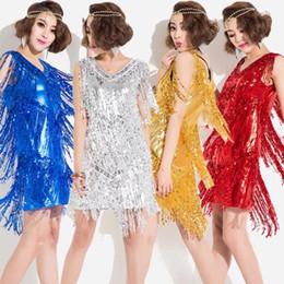 Wholesale Latin Dance Show - 2017 new ds show costume cloth Latin tassel dress stage dresses Latin dance jazz dance dress