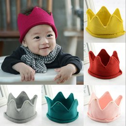 Wholesale Baby Knitted Photography Props - Cute Newborn Toddler Baby Infant Soft Handmade Photography Props Cap Sweet Knitted Crown Hat