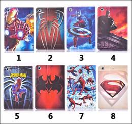 Wholesale Ipad Mini Cover Spiderman - Marvel Hero Cover Case Spiderman Batman America Superman for iPad 2  3  4, Mini 1 2 3 Smart Case