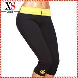 Wholesale Pants Bodysuits For Women - Wholesale-hot shapers leggings womens neoprene pants Sports Slimming plus size pants for women neoprene body shaper slimming pants