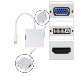 Wholesale Dvi Adapter For Macbook Pro - Thunderbolt Mini DisplayPort to DVI VGA HDMI Adapter For Apple Macbook Air Pro