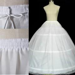 Wholesale Cheap Crinoline For Prom Dress - Cheap Three Hoops Petticoats for Ball Gowns Adjustable Sizes Crinoline Bridal Accessories Underskirt for Wedding Prom Quinceanera Dresses
