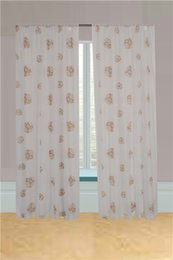 Wholesale Modern Curtain Panels - Simple modern style,voile flocked slot top panel curtain, high quality fabrics, Seiko production.