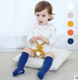 Wholesale Infant Princess Accessories - Infant stockings newborn kids stripe knitting knee high stockings baby girls candy color princess accessories toddler non-slip legs R1068