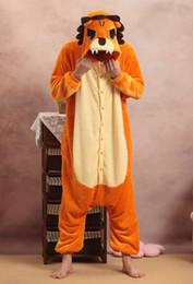 Wholesale Lion Adult Costumes - Wholesale-Adult Unisex Lion Onesies Pajamas Cartoon Costume Cosplay Pyjamas Party Dress Pijamas