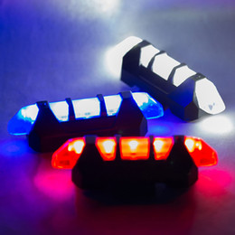 Wholesale Accessories Mtb Lamp - 2017 Portable 5 LED USB Tail Light Bike MTB Road Rechargeable Safety Warning Bicycle Rear Light Lamp Cycling Bike Accessories 4 Modes 20PCS