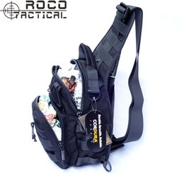 Wholesale Molle Utility Shoulder - Wholesale-Molle Tactical Utility 3 Ways Should Sling Bag Military Tactical Combat Cross Body Shoulder Bag Travel Camping Messenger Bag