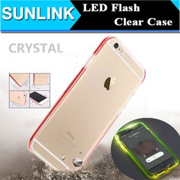 Wholesale Flash Crystal Case - New Remind Incoming Call LED Flash Light Case Crystal Clear Cover Dual Layer Skin for iPhone 7 6 6S Plus Samsung Galaxy S7 Edge S6 Edge Plus