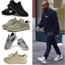 Wholesale Outdoor Hunting Sporting - DORP SHIPPING 350 boost 350 black boost Kanye West running shoes Sports shoes mens sneakers women Oxford Tan outdoor 350 white shoes shoe