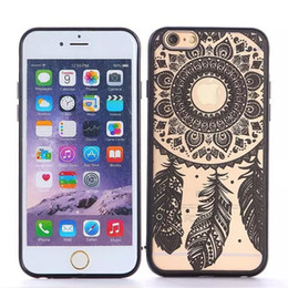 Wholesale Tribal Iphone Cover Wholesale - Flower Paisley Tribal Transparent Cover Phone Hard Case For iPhone SE 5 6s Plus With DHL Free Shipping With OPP Bag