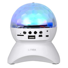 Wholesale Magic Card Lamp - Wireless Speaker 3W LED Light Ball Stage Lights Disco Lamp Magic Bluetooth 2.1 + EDR RGB LED Light Support TF Card FM radio