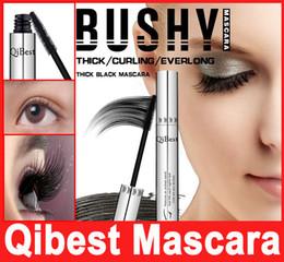 Wholesale Make Up Tubes - Makeup QIBEST 3D MASCARA Aluminum Tube Waterproof Lengthening Cruling Thick Bees Wax Mascaras Women False Eye Lashes Make Up Bushy