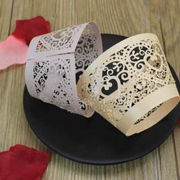 Wholesale Mini Birthday Cakes - Rustic Box Cupckae Mini Muffin Cupcake Wrapper Laser cut Cupcake Favors Cake accessary Multi Color Free Ship