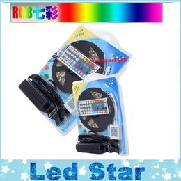 Wholesale Waterproof Led Rope Lights - RGB LED Strips Kit Lights 5050 12V Flexible LED Rope Lights Waterproof IP65 + 44keys Controller +12V 5A power supply