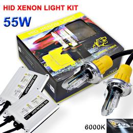 Wholesale Xenon H1 Kit - White AC Ballast HID Kit 9005 9006 hb4 H1 H4 H7 H8 H9 H11 6000K Xenon 55W