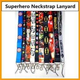 Wholesale Justice League Wholesale - Wholesale Superhero Avengers Justice League Marvel Lanyards Keychain ID Badge Holder Cartoon Neck Straps For Mobile Phone