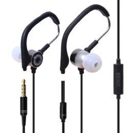 Wholesale Stereo Clip Microphone - 2016 Malloom 3.5mm In Ear headphones Clip On Jogging Sport with microphone Stereo Earphone Auricolari for Iphone 5 5s 5c #019Y