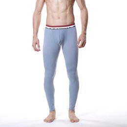 Wholesale Mesh Long Johns - Wholesale-Fashion Men Modal Long Johns Breath Mesh Thermal Pants Trousers Underwear Leggings