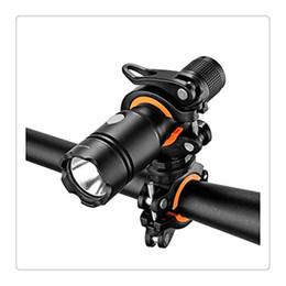 Canada Universal vélo vélo LED lampe de poche torche support de montage 360 ° rotation clip de vélo pince LED lampe de poche torche pince clip de montage gratuit DHL cheap flashlight clamp mount Offre