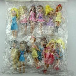 Wholesale Resin Fashion Dolls - Hot sale New 12pcs set fashion Mixed pattern random Cute Polly Pockets Girl Doll Toy Figures For Best Gifts