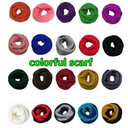 Wholesale Ladies Wool Blend Wrap Shawl - Colorful Women Ladies Girls Warm Knit Neck Circle Wool Blend Scarf Shawl Wrap Free Shipping ouc2126