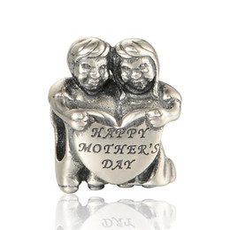 Wholesale Pandora Star Necklace - Happy mother's day charms beads S925 sterling silver jewellery fits for pandora style bracelet and necklace free shipping LW595